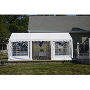 ShelterLogic, 25890, Party Tent & Enclosure Kit 9-11/16 ft. x 19-5/8 ft White