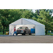 ShelterLogic, 26180, White Canopy Enclosure Kit FR Rated 18 ft x 40 ft