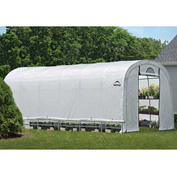 "ShelterLogic 70593 GrowIt® Heavy Duty Round Greenhouse, 12' x 24' x 8', 1-5/8"" Frame Sz"