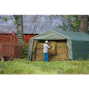 ShelterLogic, 71534, Equine Storage Shelter Peak-Style 12 ft. x 20 ft. x 8 ft.