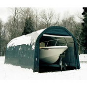 12x24x10 Round Style Shelter - Green