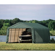 12x28x8 Peak Style Shelter - Green