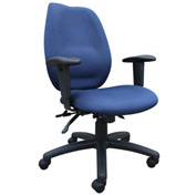 Boss Multifunction Task Chair - Fabric - High Back - Blue