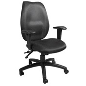 Boss Multifunction Task Chair - Fabric - High Back - Black
