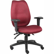 Boss Multifunction Task Chair - Fabric - High Back - Burgundy