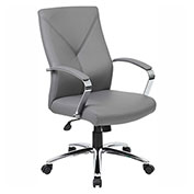 Boss LeatherPlus Executive Chair, Gray