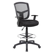 Boss Contract Mesh Drafting Stool - Black