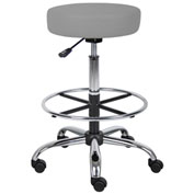 Boss Caressoft Medical-Drafting Stool - Vinyl - Gray