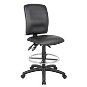 Boss Multifunction Drafting Stool - Leather - Black