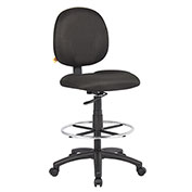 Boss Drafting Stool with Footring -Fabric - Black