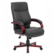 Boss LeatherPlus Executive Chair, Black