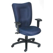Boss Multifunction Task Chair with Arms - Fabric - Mid Back - Blue