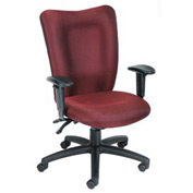 Boss Multifunction Task Chair with Arms - Fabric - Mid Back - Burgundy