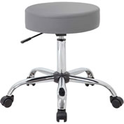 Boss Gray Caressoft Vinyl Medical Stool - Gray