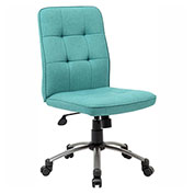 Boss Modern Linen Office Chair, Green