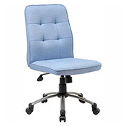Boss Modern Linen Office Chair, Light Blue