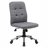 Boss Modern Linen Office Chair, Slate Gray