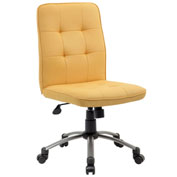 Boss Modern Office Chair - Fabric - Yellow