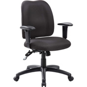 Boss Multifunction Office Chair - Fabric - Mid Back - Black