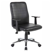 Boss Retro Task Chair w/ T-Arms, Black