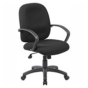 Boss Executive Fabric Task Chair, Black