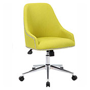 Boss Carnegie Linen Desk Chair, Chartreuse