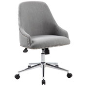 Boss Carnegie Linen Desk Chair, Gray