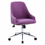Boss Carnegie Linen Desk Chair, Purple