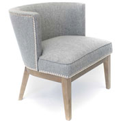 Boss Ava Fabric Accent Chair - Medium Gray