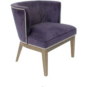 Boss Ava Velvet Accent Chair - Purple