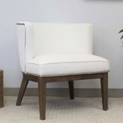 Boss Ava Velvet Accent Chair - White