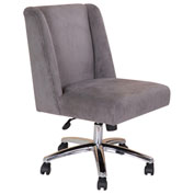 Boss Decorative Task Chair - Velvet - Charcoal Gray