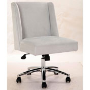 Boss Decorative Task Chair - Velvet - Light Gray
