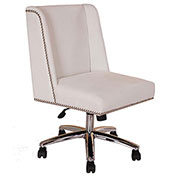 Boss Decorative Velvet Task Chair - White