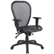 Boss Multifunction Mesh Office Chair - Mesh Seat - Mid Back - Black
