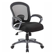 Boss Ergonomic Mesh Task Chair, Mid-Back, Black