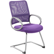 Boss Mesh Back Guest Chair with Arms - Fabric - Mid Back - Purple