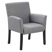 Boss Contemporary Linen Guest Chair, Medium Gray
