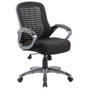 Boss Mesh Office Chair - Fabric - High Back - Black
