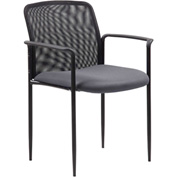 Boss Stackable Mesh Guest Chair - Gray