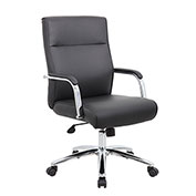 Boss Modern Executive Vinyl Conference Chair - Black