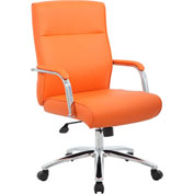 Boss Modern Executive Vinyl Conference Chair - Orange