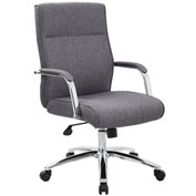 Boss Modern Executive Conference Chair - Fabric - Gray