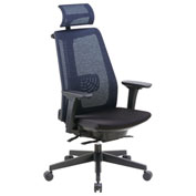 Boss Mesh Back Executive Chair with Headrest - Fabric - High Back - Black