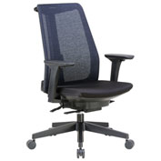 Boss Mesh Back Executive Chair - Fabric - High Back - Black