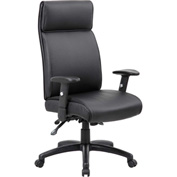 Boss Multifunction Executive Office Chair - Vinyl - High Back - Black