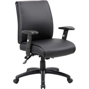 Boss Multifunction Executive Office Chair - Vinyl - Mid Back - Black