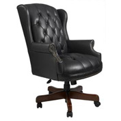 Boss Wingback Traditional Executive Chair - Black