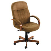 Boss Executive Office Chair - Microfiber - High Back - Brown