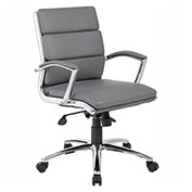 Boss Executive CaressoftPlus™ Mid-Back Chair, Gray